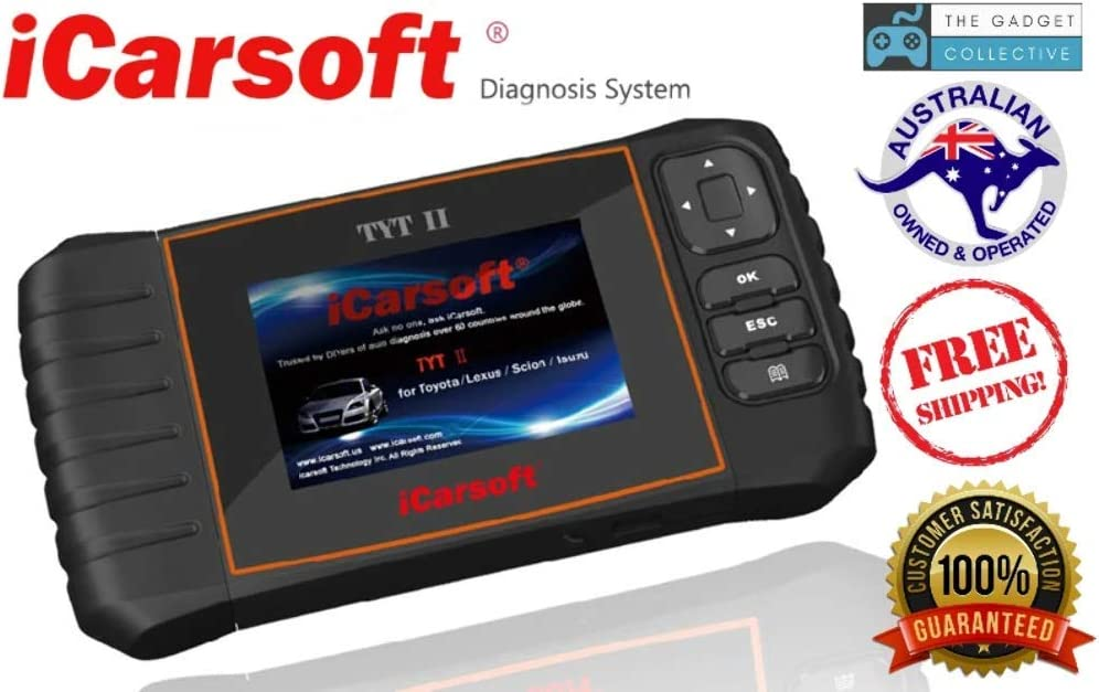 iCARSOFT TYT II TOYOTA ABS AIRBAG CODE ERASE FAULT SCAN TOOL i905 NEW VERSION