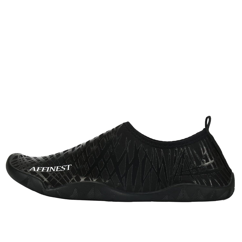 AFFINEST Unisex Zapatos de Agua Deportivos descalzo de Secado Rápido Respirable Piscina Playa Para Hombre Surf Yoga Water Shoes(Plata,44)