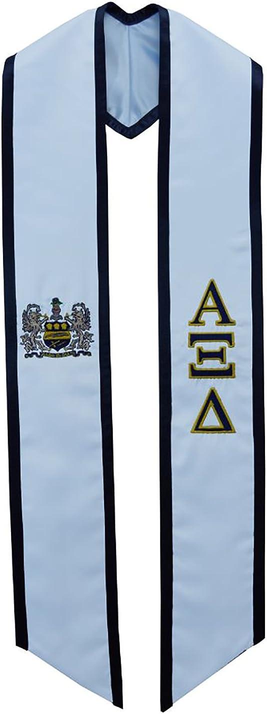 Alpha Xi Delta Sorority Deluxe Embroidered Graduation Stole