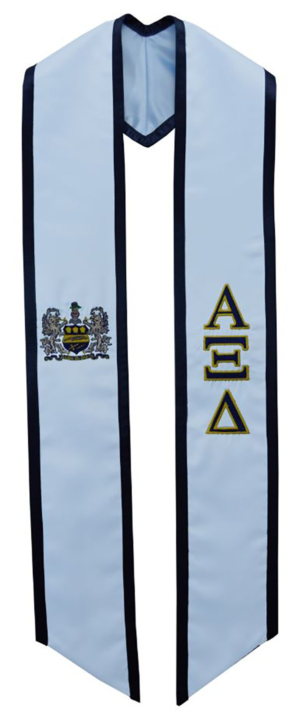 Alpha Xi Delta Sorority Deluxe Embroidered Graduation Stole