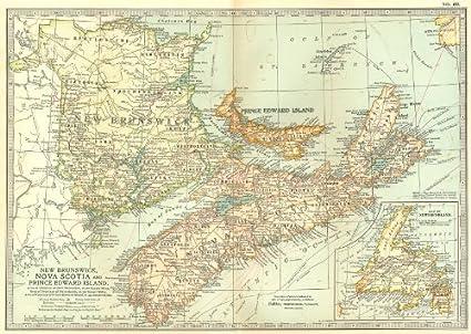 Amazon Com Canada New Brunswick Nova Scotia Prince Edward