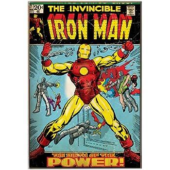 Amazon Com Silver Buffalo Mc5336 Marvel Comics Iron Man