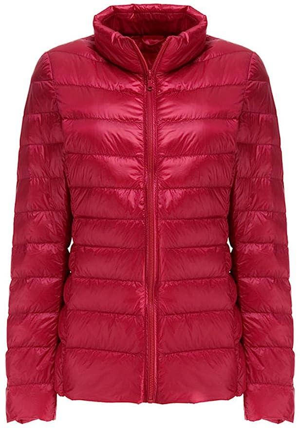 Mochoose Blouson Veste Manteau Femme Ultra Légère Parka Hiver Zippée Pour Manches Longues Doudoune erBdoCx