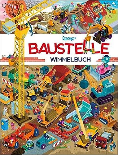 Baustelle zeichnung  Baustelle Wimmelbuch: Das große Wimmelbilderbuch mit Bagger ...