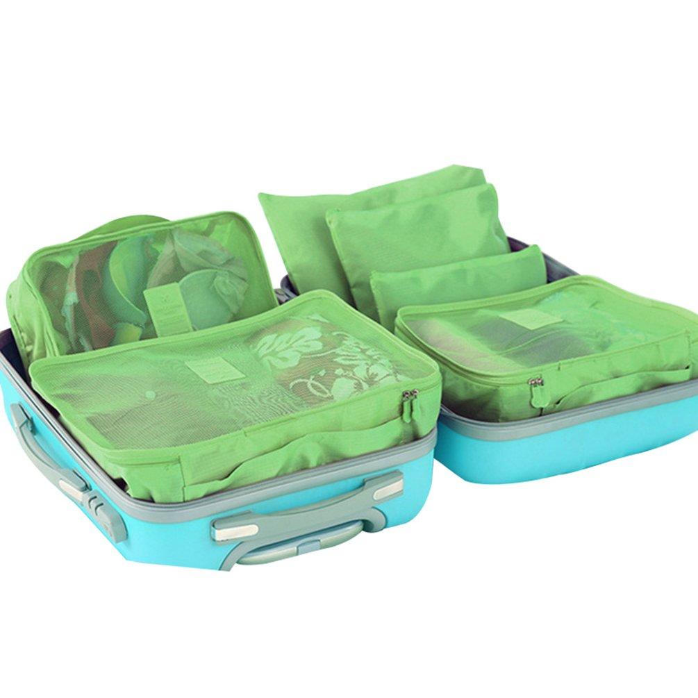 3 Cubi Portatile di Lmballaggio 3 Sacchetti Borsa Impermeabile Verde Dexinx Organizzatori Salvaspazio per Valigia da Viaggio