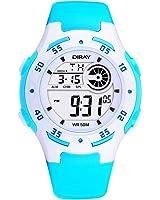 Kids Boy's Students Blue Waterproof Digital Watch with Stopwatch