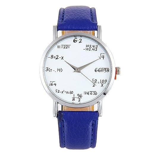 Ronamick - Reloj de pulsera para mujer, diseño de cuadros, correa de piel,