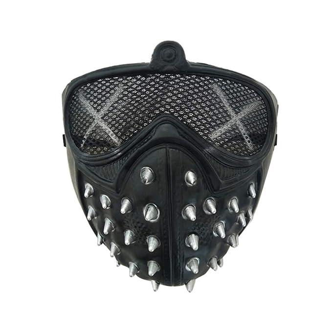 Neu werden neuer & gebrauchter designer detaillierter Blick Zsunda Cosplay of Watch Dogs 2 Mask Marcus Wrench Plastic Rivet Mask Cool  Halloween Party Cosume (Black)
