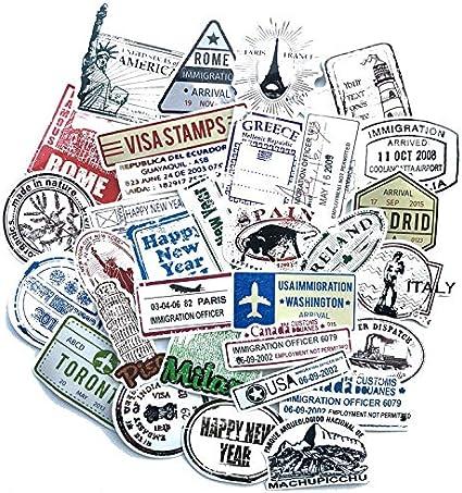 60 hojas/sellos pegatinas retro letras sellos pegatinas maleta ...