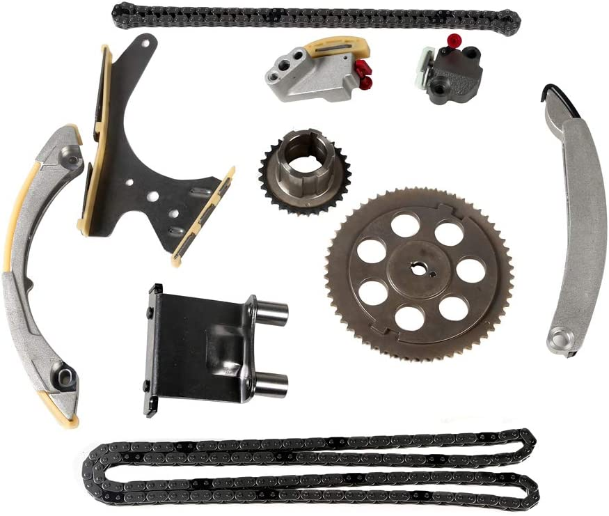 Mplus Engine Timing Chain Kit Fits 2002-2004 for Chevrolet Trailblazer 4.2L 2002-2004 for GMC Envoy 4.2L 2003-2004 for Isuzu Ascender 4.2L and More