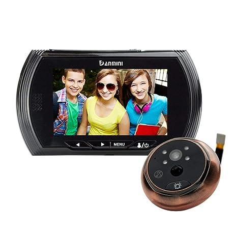 4,3 pulgadas visor mirilla digital de puerta, TFT LCD de visión nocturna de la cámara ...