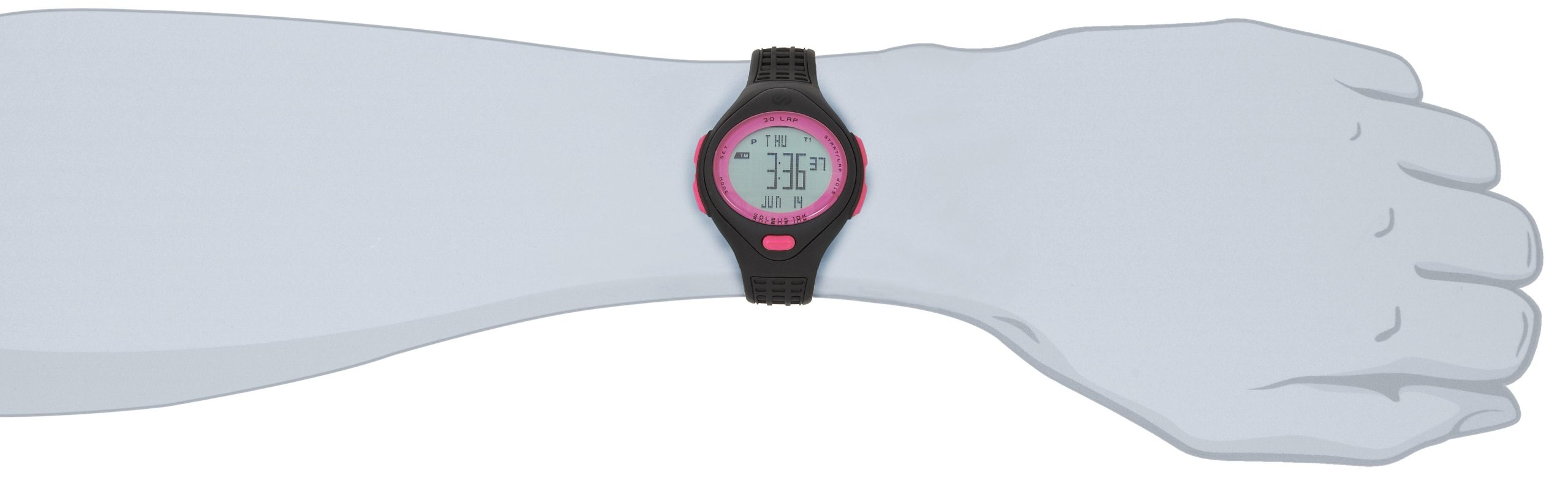 b17471e3ea1d Galleon - Soleus Women s SR007060P 10K Black And Pink 30 Lap Digital Sports  Watch