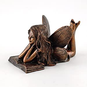 Top Collection 4386 Miniature Garden & Terrarium Fairy Reading Statue, Small