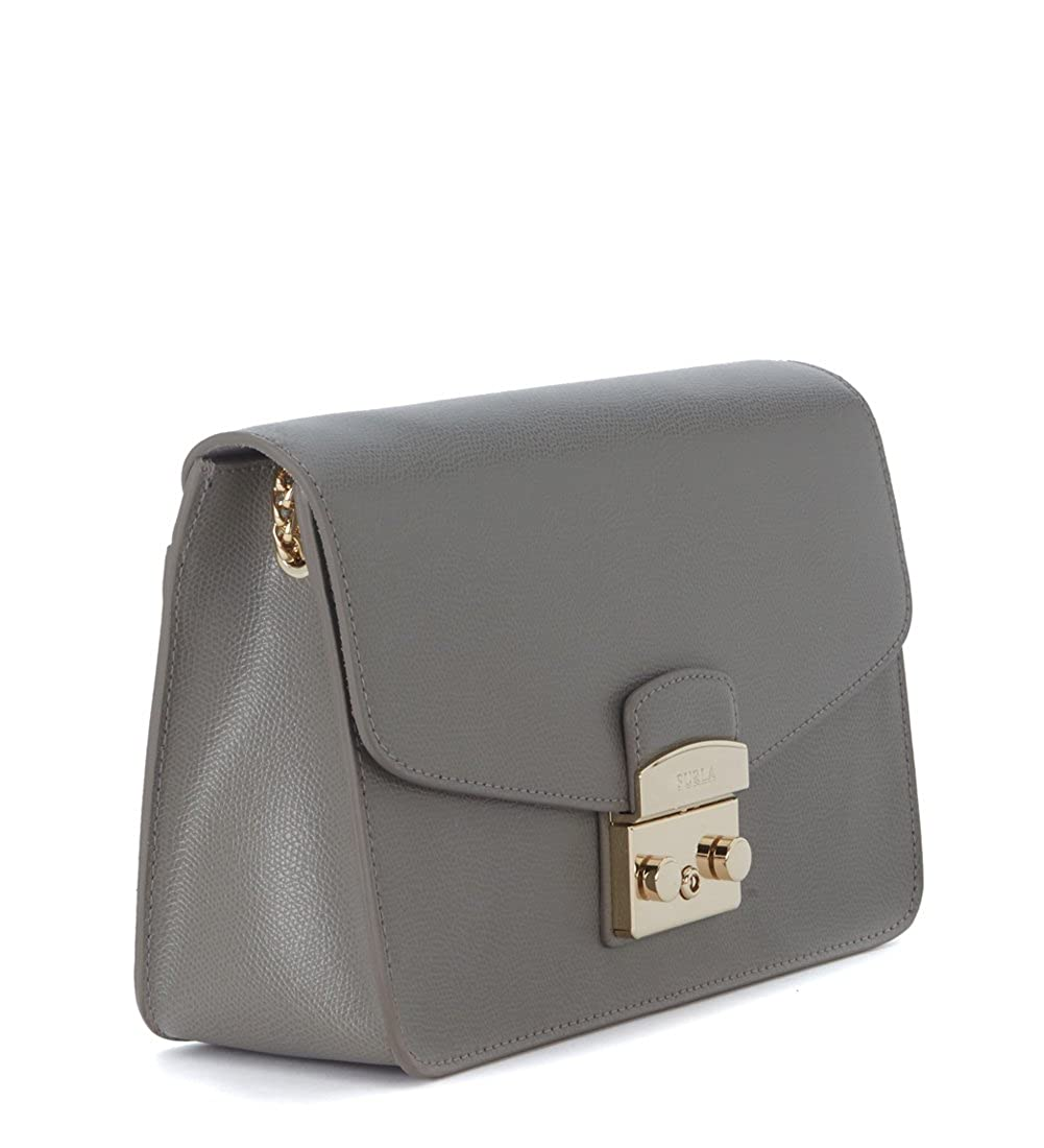 5a6701ced3 Furla Metropolis grey clay cal leather shoulder bag  Amazon.co.uk  Shoes    Bags