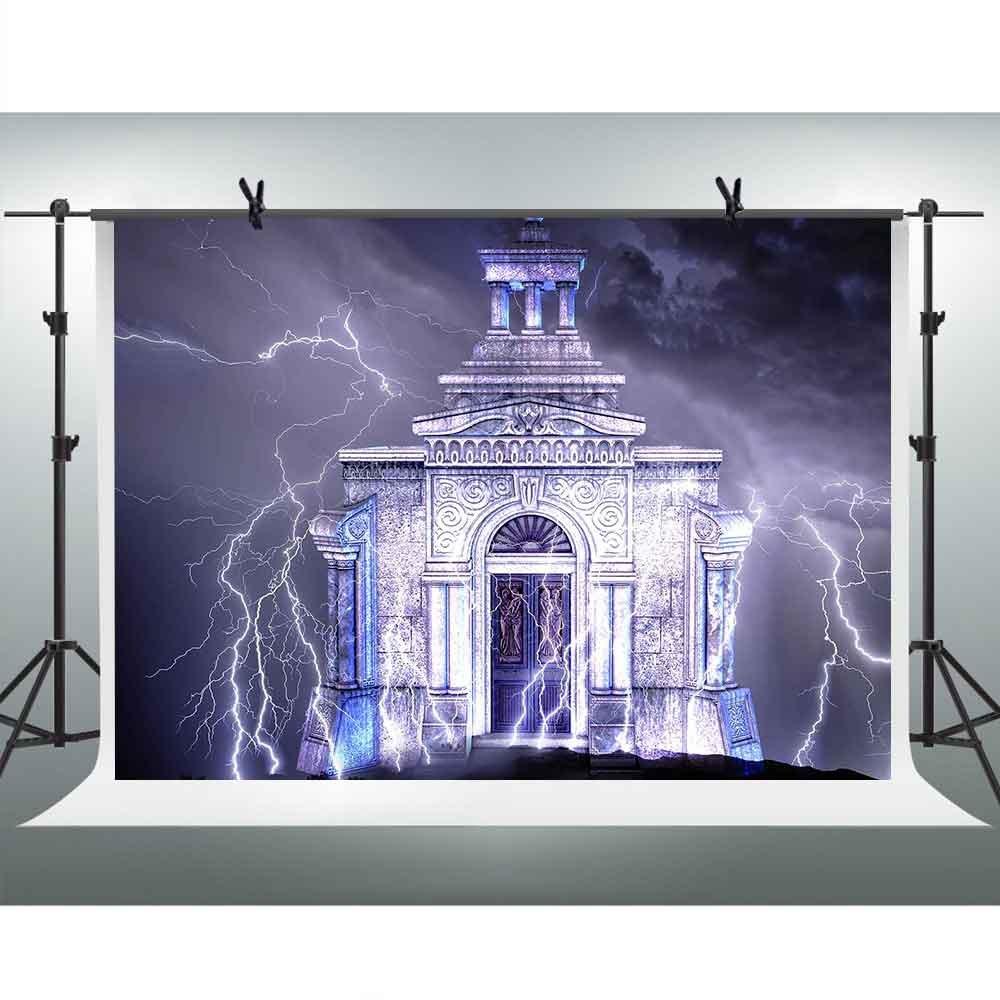 FH 10x7フィート Spectacular Castle 写真撮影用背景幕 夜のライトニング背景テーマ パーティー YouTube背景幕 写真ブース スタジオ小道具 PFH151   B07D5R8B76