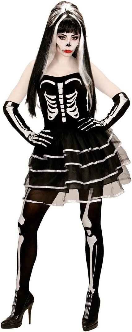 NET TOYS Disfraz Esqueleto Mujer Atuendo Huesos Halloween XL 46/48 ...