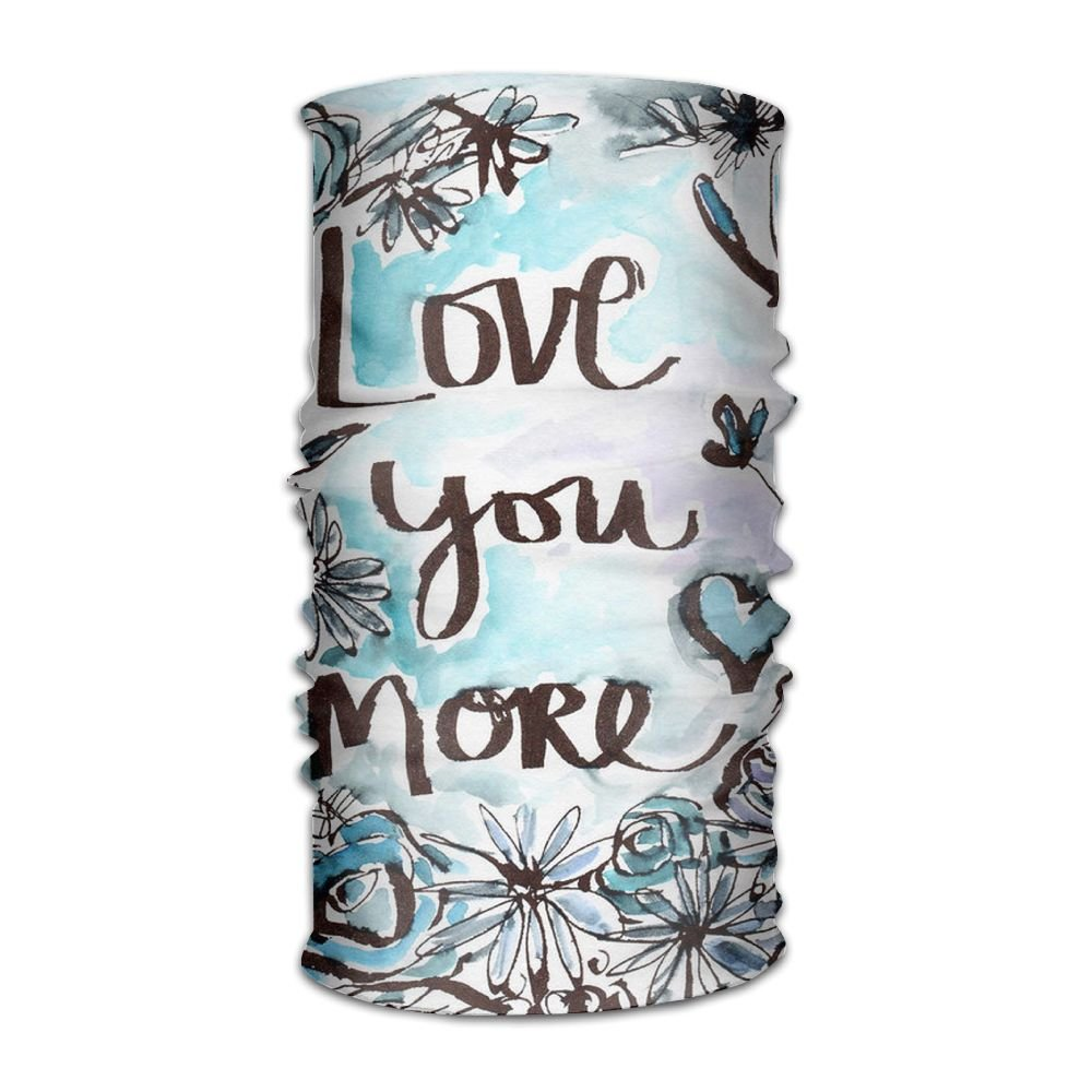 Love You More Floral 16-in-1 Magic Scarf,Face Mask,fishing Mask,Thin Ski Mask,Neck Warmer Balaclava Bandana For Raves,Dust,Riding Bike,Motorcycle,Outdoor Activities