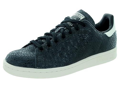 b6a0d620f Adidas Womens Stan Smith W Originals Black/Black/White Casual Shoe 9 Women  US