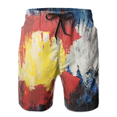Game Life Shorts Painted State Mens Tree Quick Dry Swim Trunks Beach Shorts With Mesh Lining
