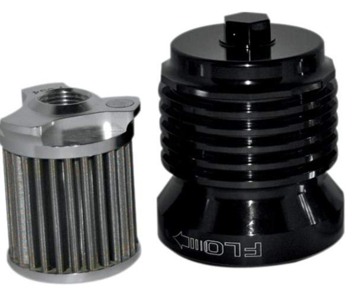 PC Racing PCS4B Black Stainless Steel Flo Oil Filter
