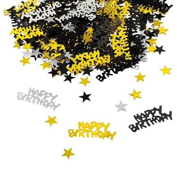 Nuluxi Feliz cumpleaños Mesa Confeti Confeti Colorido Feliz ...