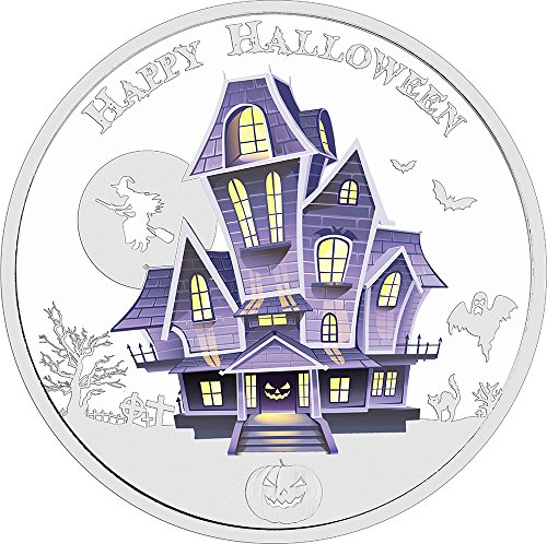 2016 NU Halloween HAUNTED HOUSE Glow In The Dark 1 Oz Silver Coin 2$ Niue 2016 Proof (Haunted Houses Ideas)