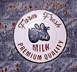Backyard Expressions 906435 Vintage Farm Fresh Wall Sign, Milk