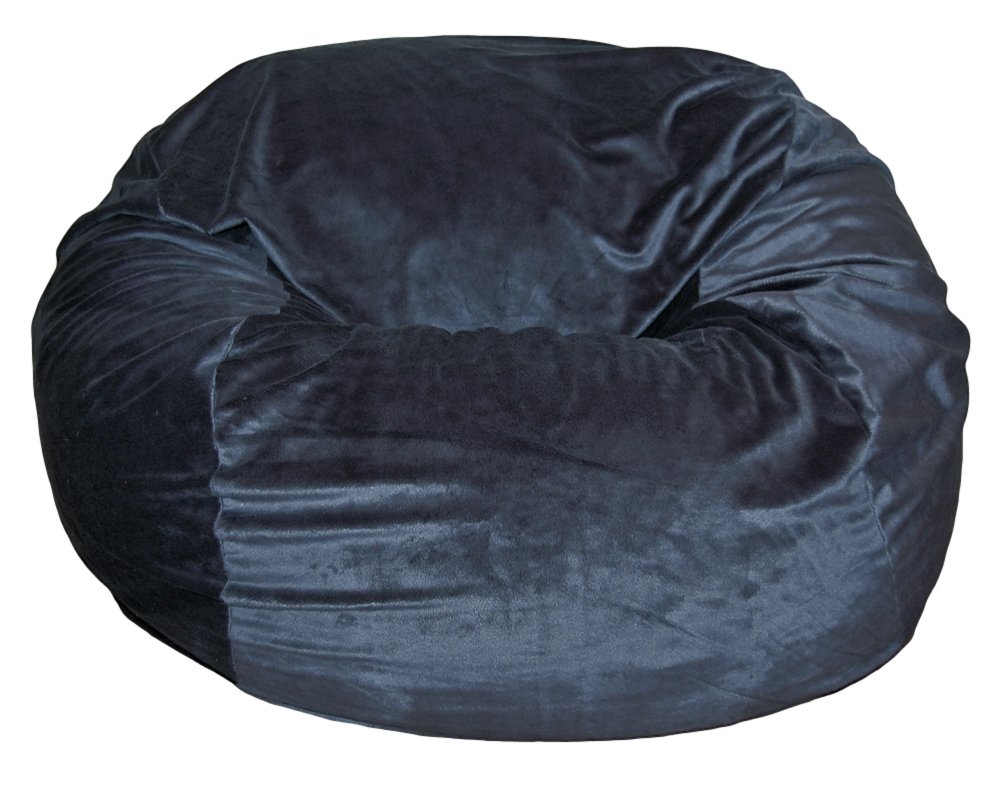 Ahh! Products Cuddle Minky Black Washable Large Bean Bag Chair