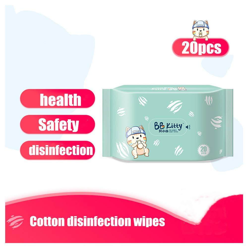 60PCS Toallitas Antibacterianas Sin Alcohol Desinfectante Toallitas de Manos Para Bebe Toalla de papel Desinfectante Toallitas H/úmedas Individuales Toallitas Desinfectantes Multiuso