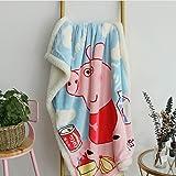 FairyShe Kids Throw Blanket Cartoon Fleece