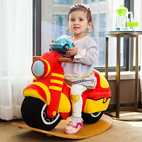 Cool Riding Toys For Boys : Labebe wooden rocking horse for toddlers cool rocker ride