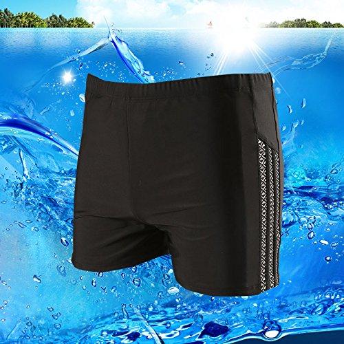 ZQ@QXGrande taille maillot de bain pour hommes de la mode casual short,XL,Black