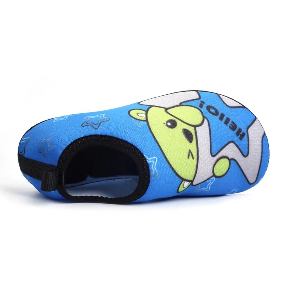 0f963a2f0bb31 BODATU Boys  Girls  Swim Water Shoes Kids Quick Dry Barefoot Aqua Sock Shoes  for Beach Pool Blue 1 34-35