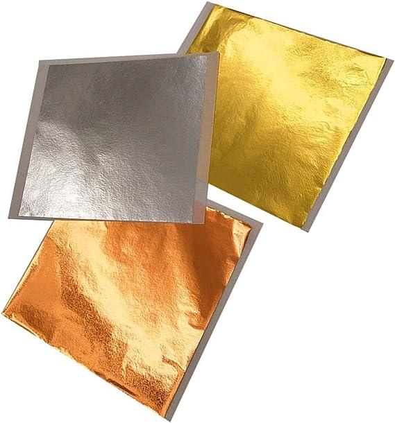 300 unidades papel de 10 x 10 cm Paquete de chocolate dorado Ounona l/ámina de aluminio de 1 antig/üedad