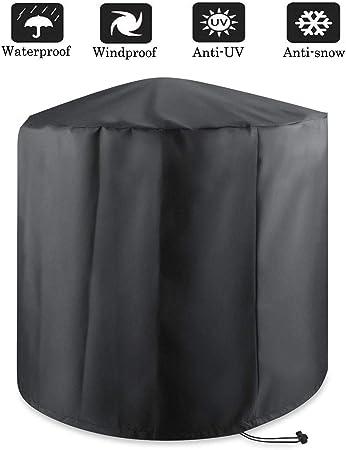 Osarke Rond Couverture de Barbecue Housse de Protection pour Rond Barbecue Grill Imperm/éable Ext/érieur Barbuae Grill Noir 75x70cm