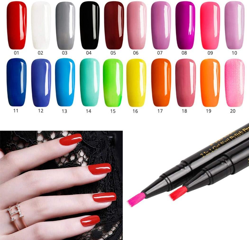 weepo 8ml Women Fashion Nail Art Gel Nail Polish Pen Tools DIY Salon Nail Glue Nail Art Tools