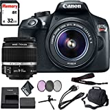 Canon EOS Rebel T6 DSLR Camera 18-55mm Lens 32GB Memory Card, Camera Strap, Battery, Case Accessory Bundle