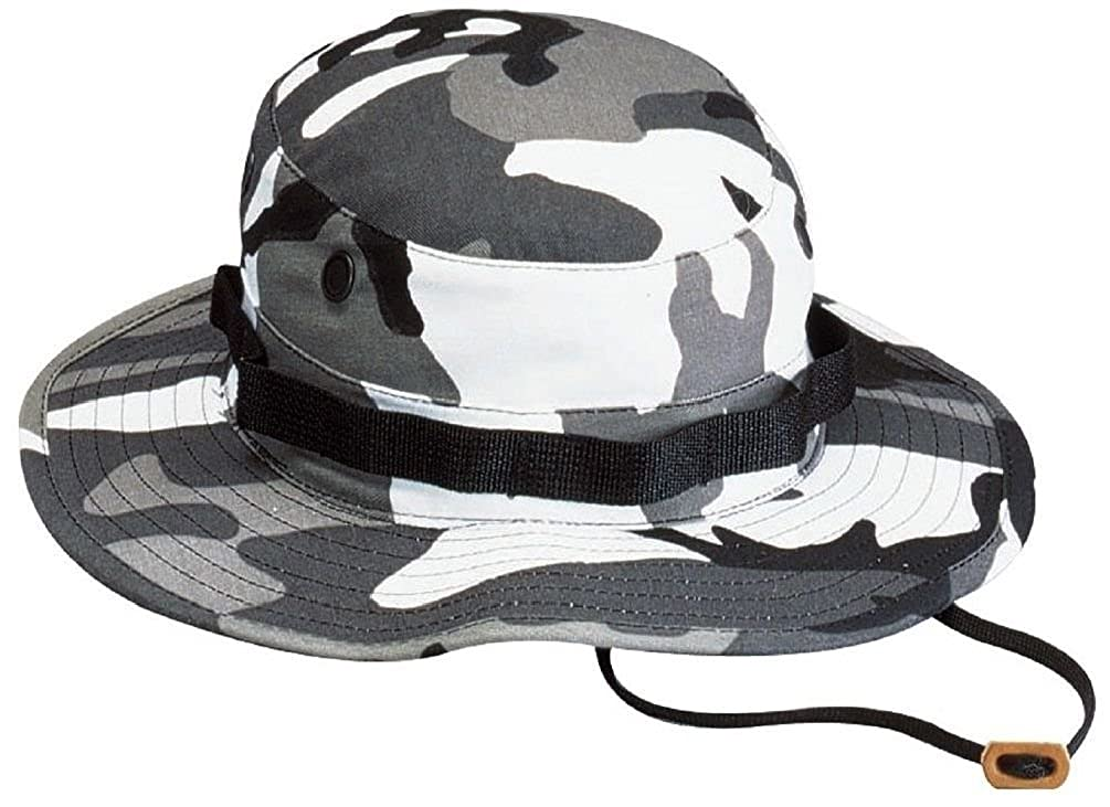 Amazon.com  City Camouflage Military Police Tactical Wide Brim Bucket  Boonie Hat  Clothing a8d11afed4b3