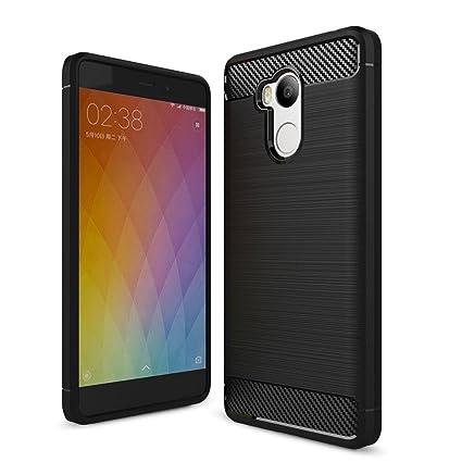 IJIA XiaoMi Redmi 4 Pro Funda Ultrafino Negro TPU Silicona La Fibra de Carbono Suave Cover Tapa Caso Parachoques Carcasa Cubierta Al Aire Libre para ...