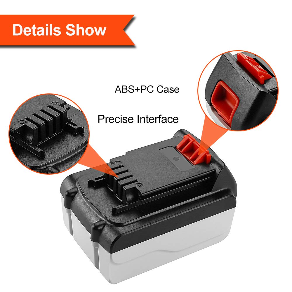 Upgraded 3600mAh Replacement Battery for Porter Cable 18V Battery PC18B PCC489N PCMVC PCXMVC Cordless Tools Topbatt