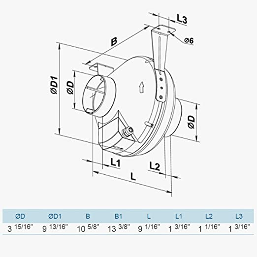 Ventamatic Vk Ps 100 Plastic Inline Dryer Booster Centrifugal Fan