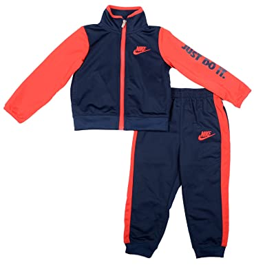 6ab455aab4 Amazon.com  NIKE Infant Boys 2-Piece Dri-FIT Zip-Front Hoodie and Jogger  Pant Set (24M