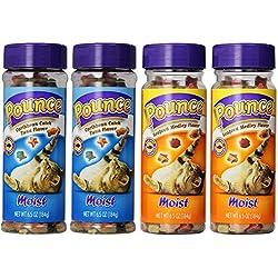 Pounce Moist 4-Pack Bundle, Includes: 2-Caribbean Catch Tuna Flavor and 2-Moist Seafood Medley Flavor Cat Treats, 6.5 ounce each