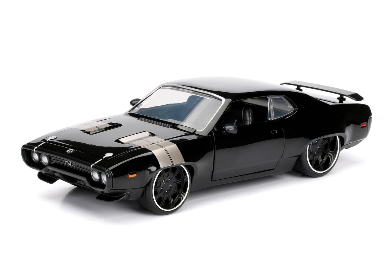 Jada Toys Fast & Furious 8 Diecast Dom's Plymouth GTX Vehicle (1:24 Scale)