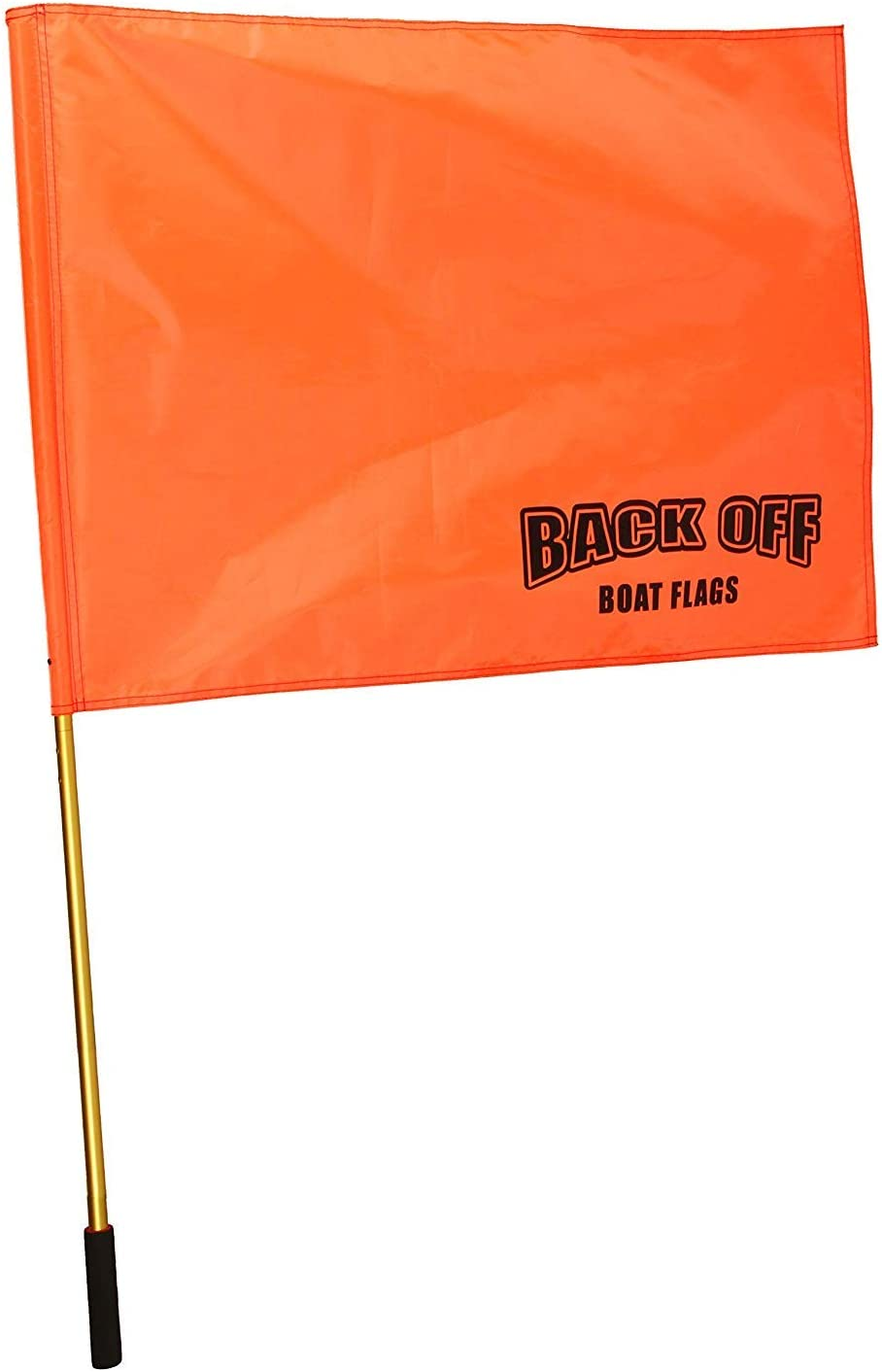 Back Off Boat Flags Giant Orange Boating Safety Flag with Pole for Water Skis Wakeboarding and Tubing - Universal Safety Skier Down Flag