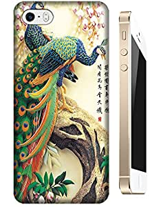 The chinese Painting peafowls beautiful cell phone cases for Apple Accessories iPhone 5C
