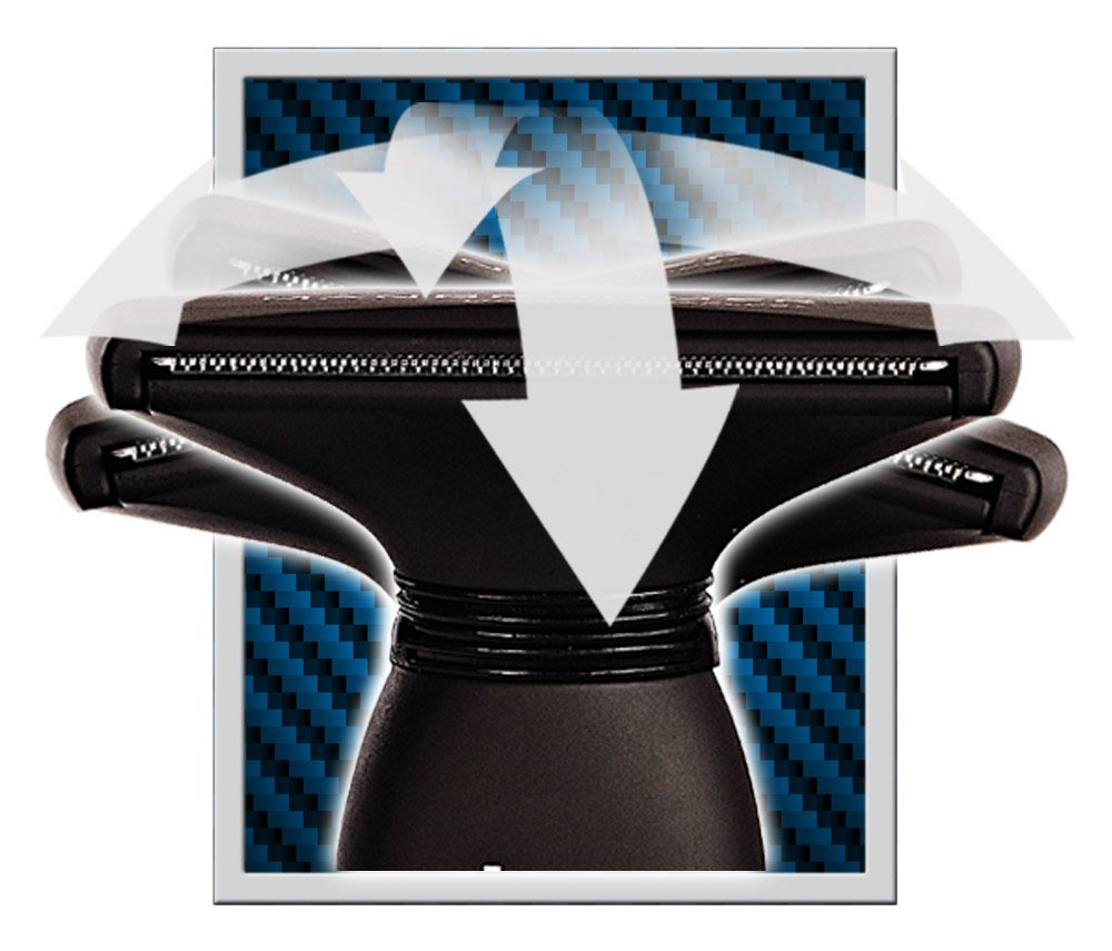 MANGROOMER - LITHIUM MAX PLUS+ Back Hair Shaver (New 5th Generation) Complete Attachment Head With Shock Absorber Neck And New 50% Wider Blade Design by MANGROOMER (Image #4)