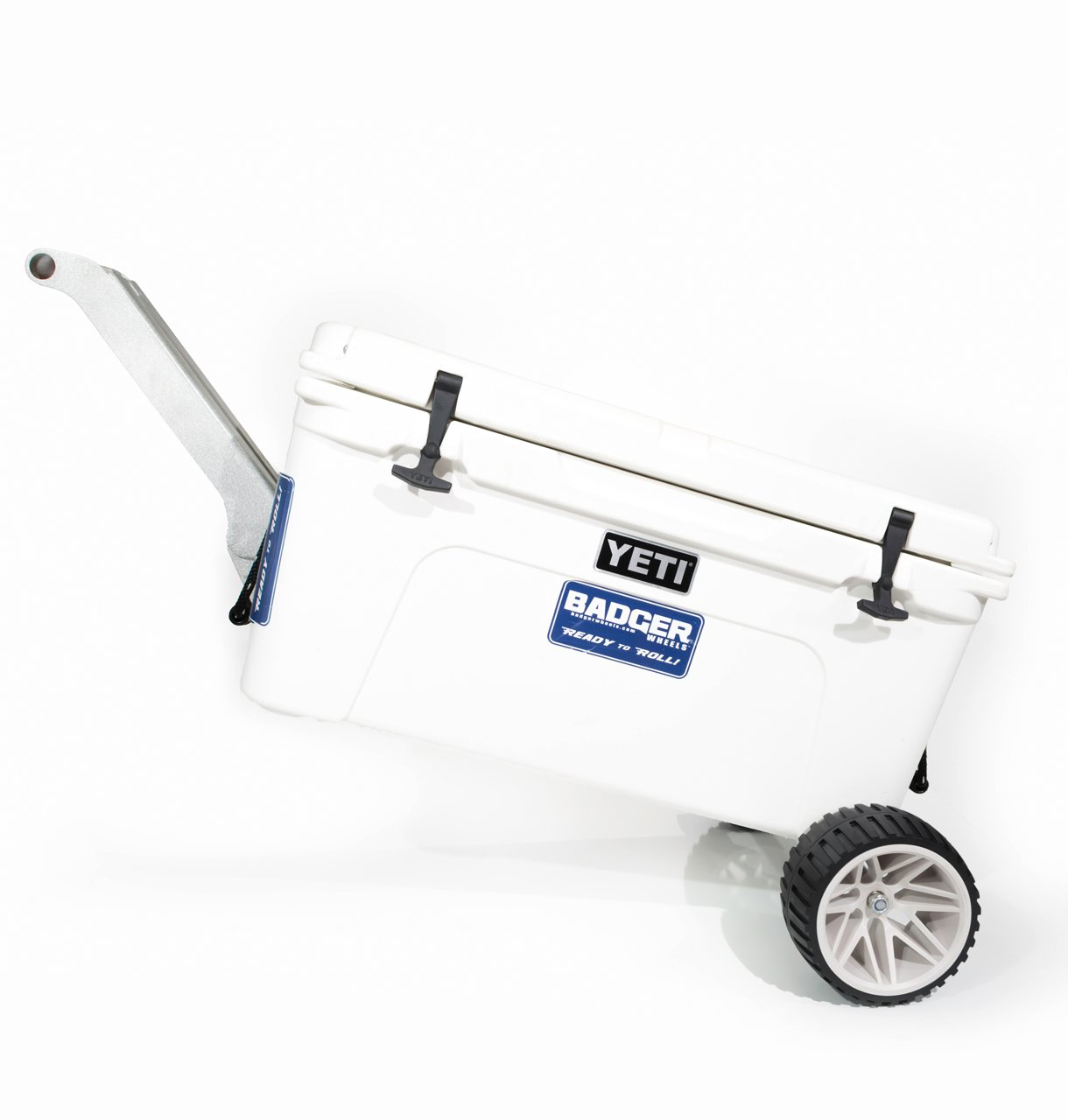 Badger Wheels - Large Single Axle with Rigid Handle/Stand for Yeti Tundra 35-160 by Badger Wheels