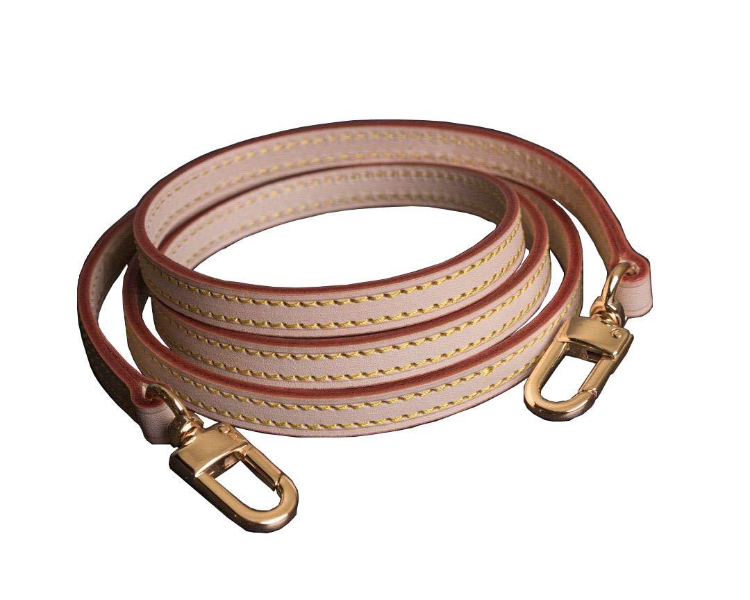 Vachetta Leather Extra Long Strap for Shoulder Bag Long Cross Body Strap for Small Bags Pochette Mini NM Eva Favorite PM MM (Vachetta Strap 55 inches(140cm)) by seventeenzone