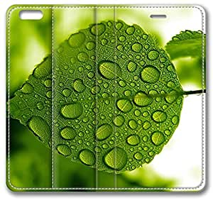 Green Leaf With Water Drops iPhone 6 Plus Case, Apple iPhone 6 Plus (5.5 hjbrhga1544